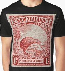 """1936 Neuseeland Kiwi Stempel"" Grafik T-Shirt"