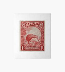 """1936 New Zealand Kiwi Stamp"" Art Board"