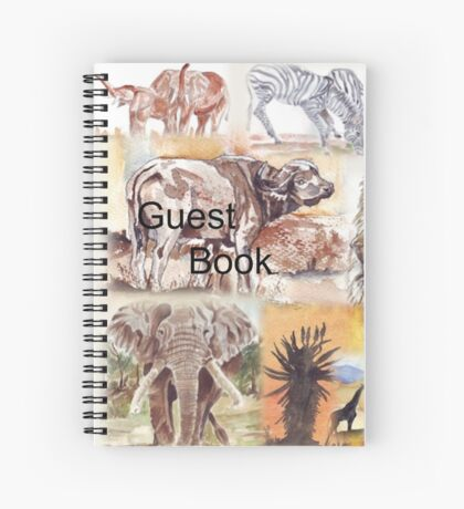 Lodge décor - South Africa's wildlife wonders Spiral Notebook