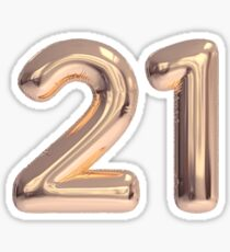 21 - 21st birthday, twenty one Sticker