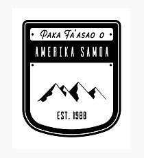 Pako Faasao o America Samoa Photographic Print