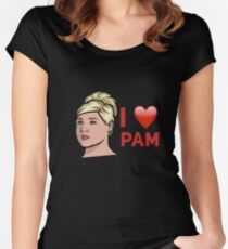 I ❤️ Pam Women's Fitted Scoop T-Shirt