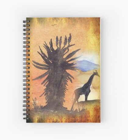 Lodge décor – African Bushveld scene Spiral Notebook
