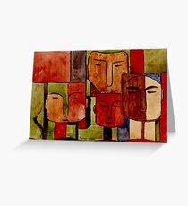 Lodge décor - Faces of Africa Greeting Card