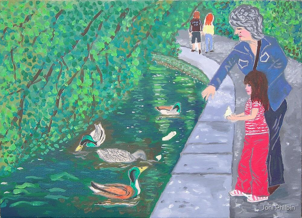 Feedin da ducks wit granny by Joni Philbin