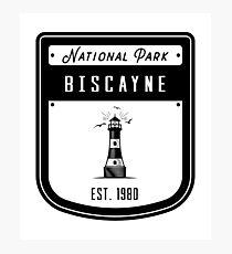 Biscayne National Park Florida Keys Badge Design Photographic Print