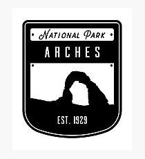 Arches National Park Utah Badge Design Photographic Print