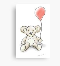 Little Bear With Balloon Canvas Print