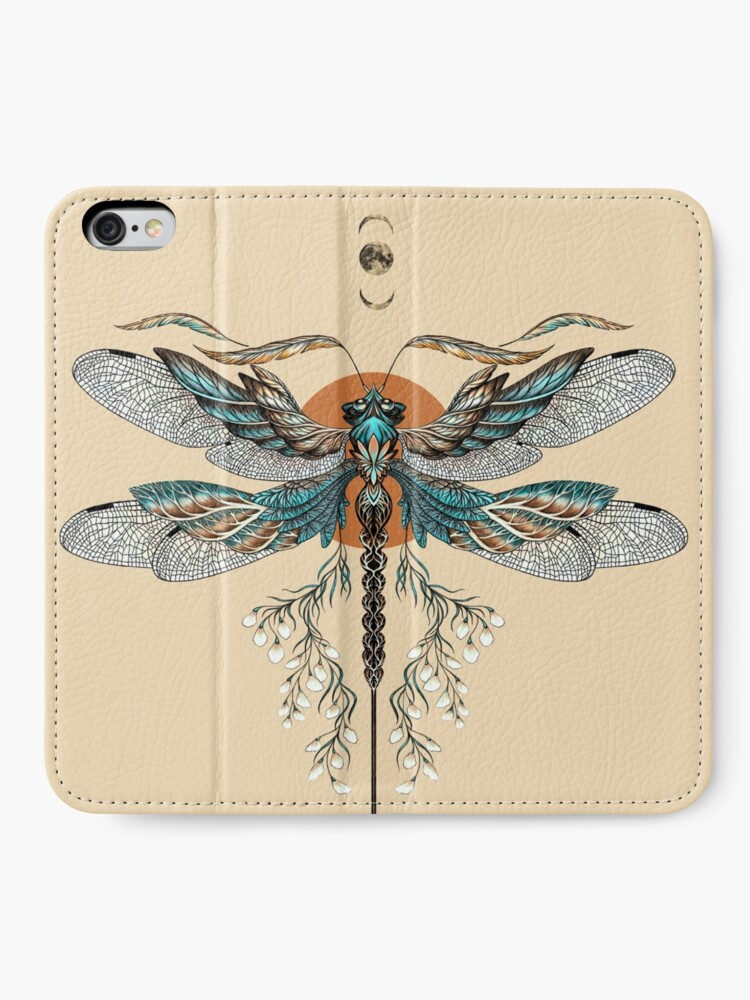 Alternate view of Dragon Fly Tattoo iPhone Wallet