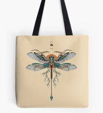 Dragon Fly Tattoo Tote Bag