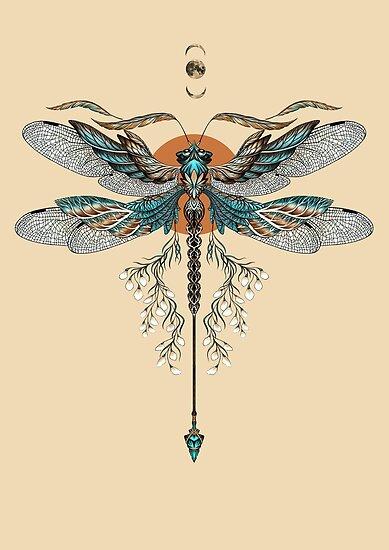 Dragon Fly Tattoo by Ruta Dumalakaite
