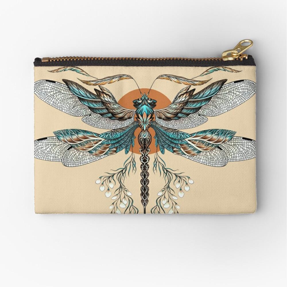 Dragon Fly Tattoo Zipper Pouch