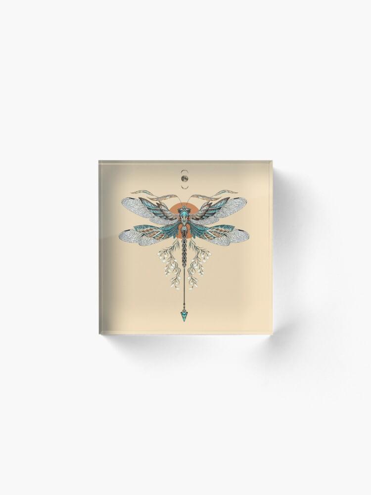 Alternate view of Dragon Fly Tattoo Acrylic Block