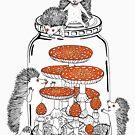 «Hedgehogs y Amanitas» de Ruta Dumalakaite