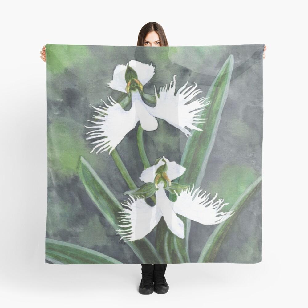 Weiße Reiher Orchideenblüten (Habenaria Radiata) Tuch
