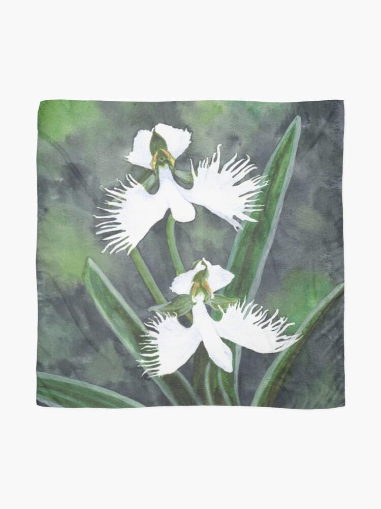Alternative Ansicht von Weiße Reiher Orchideenblüten (Habenaria Radiata) Tuch
