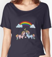 Couple of unicorns and rainbow Women's Relaxed Fit T-Shirt