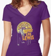 jerry lee lewis Women's Fitted V-Neck T-Shirt