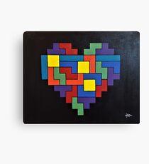 Tetris Heart - OG Addition Canvas Print