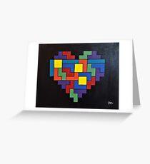 Tetris Heart - OG Addition Greeting Card