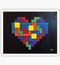 Tetris Heart - OG Addition Sticker