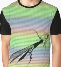 Bug Screen Projection Pixels Graphic T-Shirt