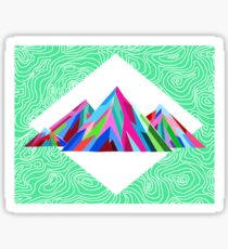 Colorful Topographical Mountain 2 Sticker