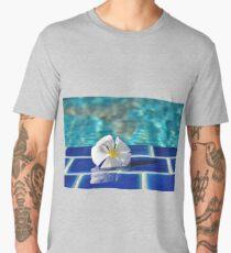 A tropical frangipani flower  Men's Premium T-Shirt