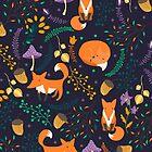 «Zorros en el bosque mágico» de JuliaBadeeva