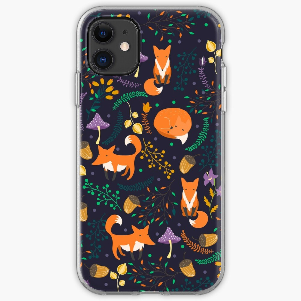 Foxes in the magic forest iPhone Case & Cover
