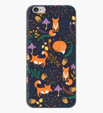 Foxes in the magic forest iPhone Case
