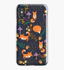 Foxes in the magic forest iPhone Case/Skin