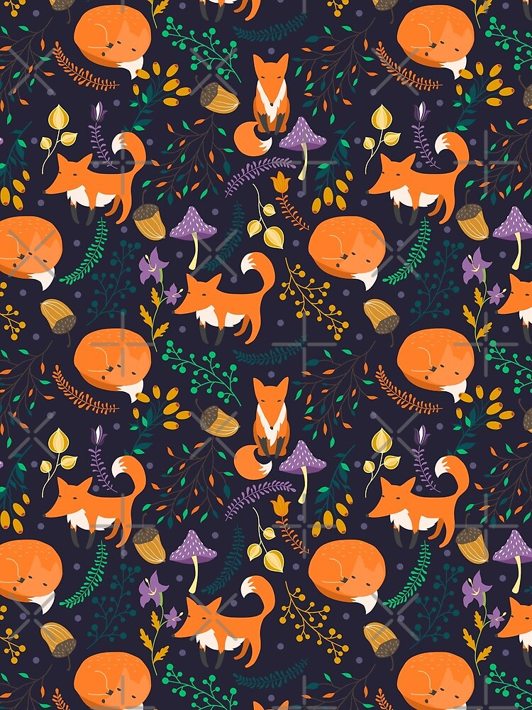 Foxes in the magic forest by JuliaBadeeva
