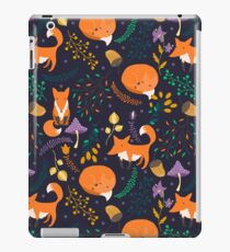 Foxes in the magic forest iPad Case/Skin
