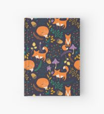 Foxes in the magic forest Hardcover Journal