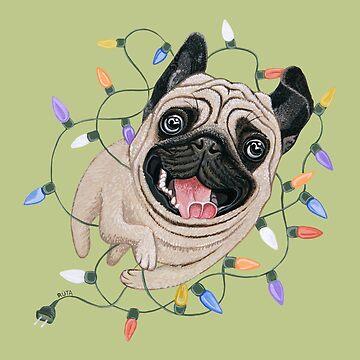 Pug Dog by Ruta