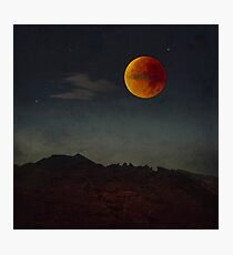 Blood Moon Rising Photographic Print