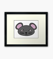 Cute little mouse - Farm animals collection Framed Print