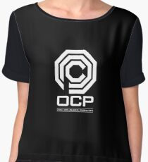 Robocop - OCP Omni Consumer Products White Women's Chiffon Top