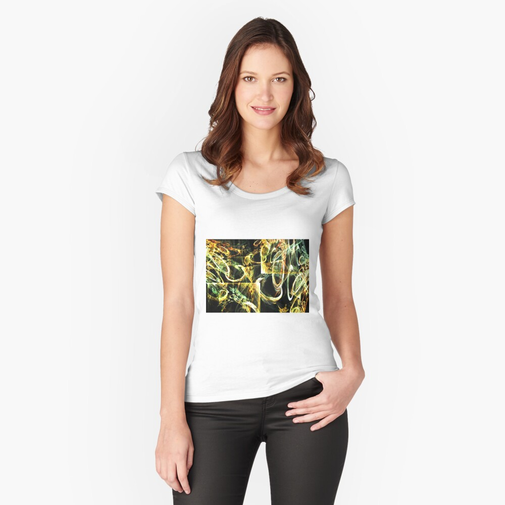 Circular Tension Women's Fitted Scoop T-Shirt Front