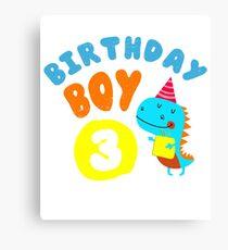 Birthday Boy – 3 Years Old Gift Canvas Print