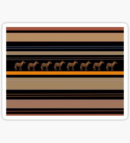 Lodge décor - Zebra safari Sticker