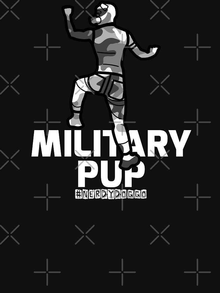 Military Pup by NerdyDoggo