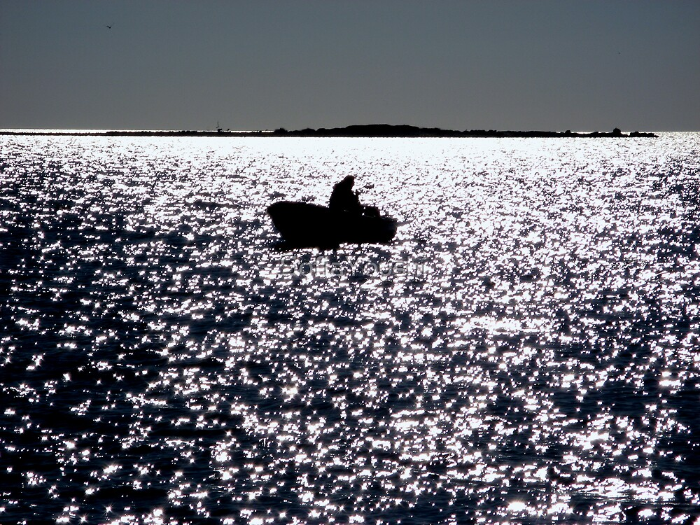 FISHERMAN BOAT SUNSET  by SofiaYoushi