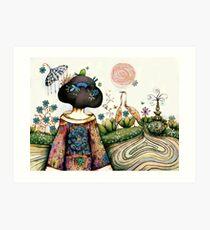 Topiary Teapot Art Print