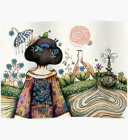 Topiary Teapot Poster