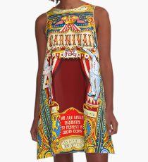 Circus Carnival Invite Poster A-Line Dress