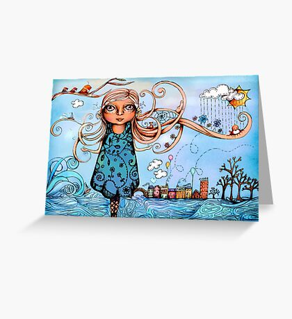 Summer Breeze Greeting Card