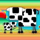Moo Cow Sunrise Family by Karin Taylor