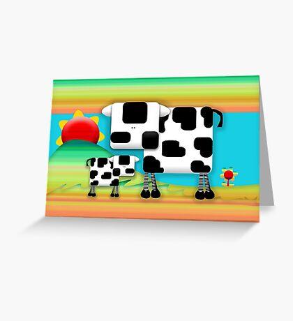 Moo Cow Sunrise Family Greeting Card